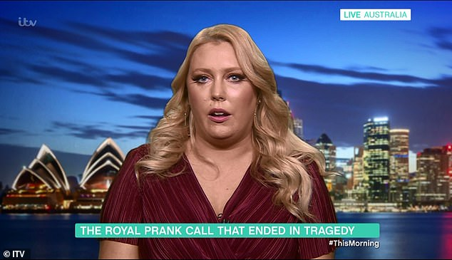 Australian radio DJ Mel Greig appeared on This Morning to talk about her plans to help people seven years on from the royal prank call controversy