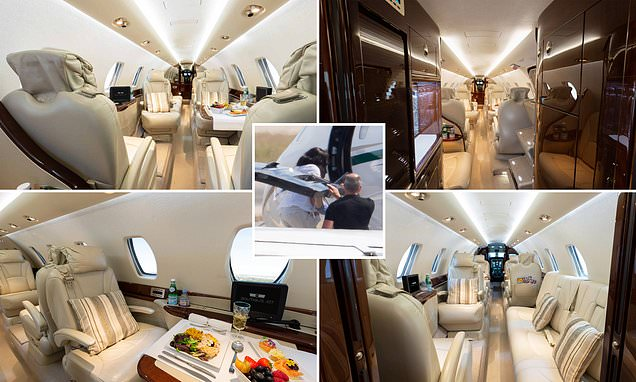 Inside Prince Harry and Meghan Markle's private jet | Daily Mail Online
