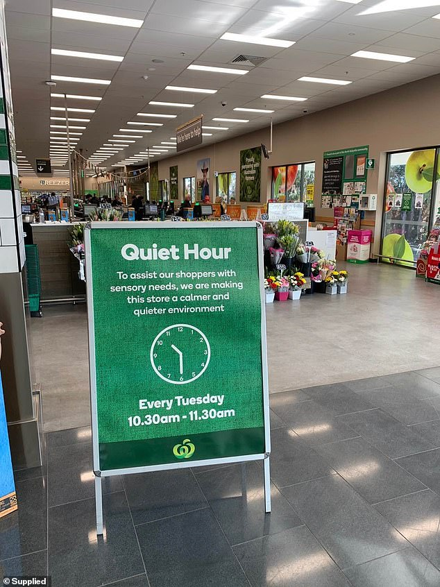 In 2019, Woolworths rolled out 'Quiet Hour' - a low-sensory initiative designed to help reduce anxiety and stress for customers with specific needs, including autism, so they can shop in a calmer and quieter environment