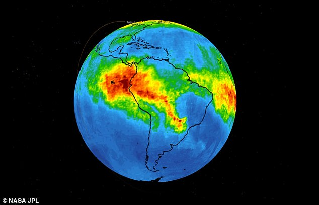 Levels of the pollutant as high as 18,000 feet above Earth's surface have spiked to 160 parts per billion by volume (ppbv) in some regions, with local values expected to be 'significantly higher'