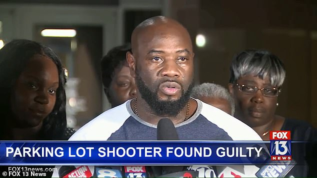 McGlockton's father, Michael McGlockton (pictured), said following the verdict: 'It's been well over a year... but my family can rest now. We can start putting the pieces back together'