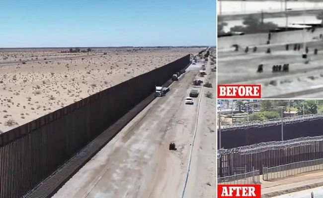 Border Patrol Unveils 60 New Miles Of Donald Trump S