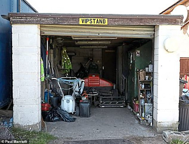Tividale manager Dave King's office sits next to the club's lawnmower shed