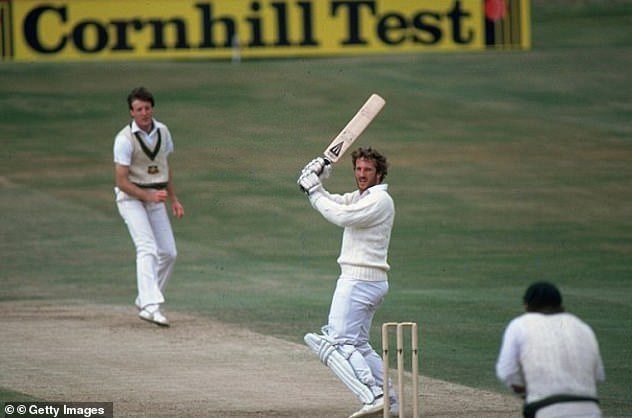 Throwback: The incredible scenes at Headingley yesterday reminded many of the great Sir Ian Botham's efforts at the same ground in the 1981 Ashes (he is pictured batting in that match)