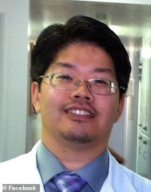 Her family is suing Dr Park)and Dr Yu (pictured) and says they 'negligently and carelessly cared for, treated and rendered medical services'