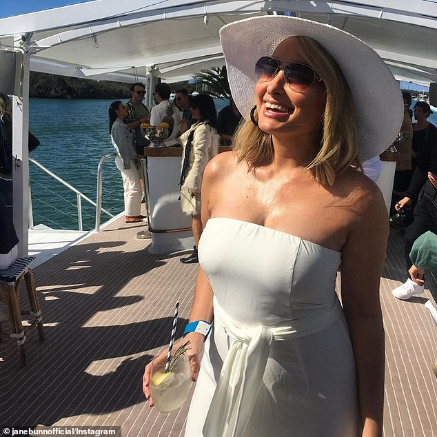 In the public eye: Jane has become one of Australia's most popular TV stars on social media thanks to her cult following among middle-aged men
