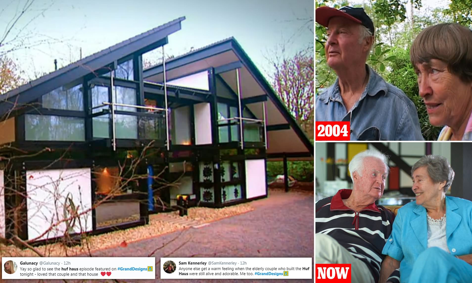 Haus Designer They're Still Alive!' Viewers Watching Grand Designs Anniversary Episode Coo Over Huf Haus Couple | Daily Mail Online