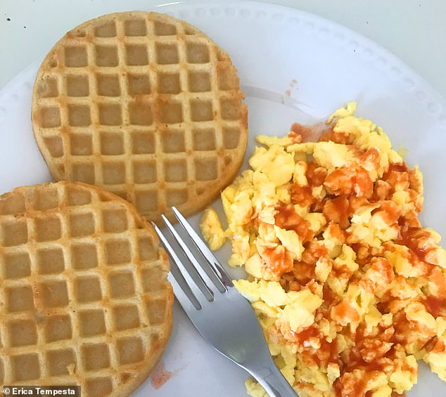 Cheating: I was pretty lax with my diet on the weekends and didn't count my macros like I was supposed to. I randomly had whole wheat waffles and eggs for breakfast one Saturday