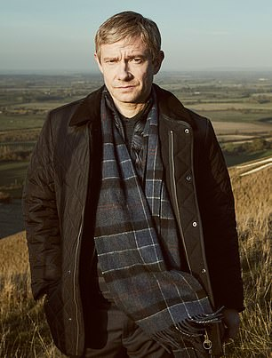 Martin Freeman, 47, plays Detective Superintendent Stephen Fulcher in the ITV show A Confession