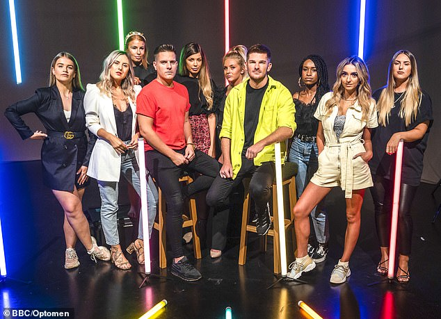 Adam and the team (pictured) battled with IT malfunctioning minutes before the launch of their Lorna collection
