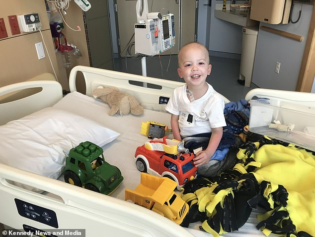 The child underwent chemotherapy, blood transfusions and platelet transfusions during his time in the hospital