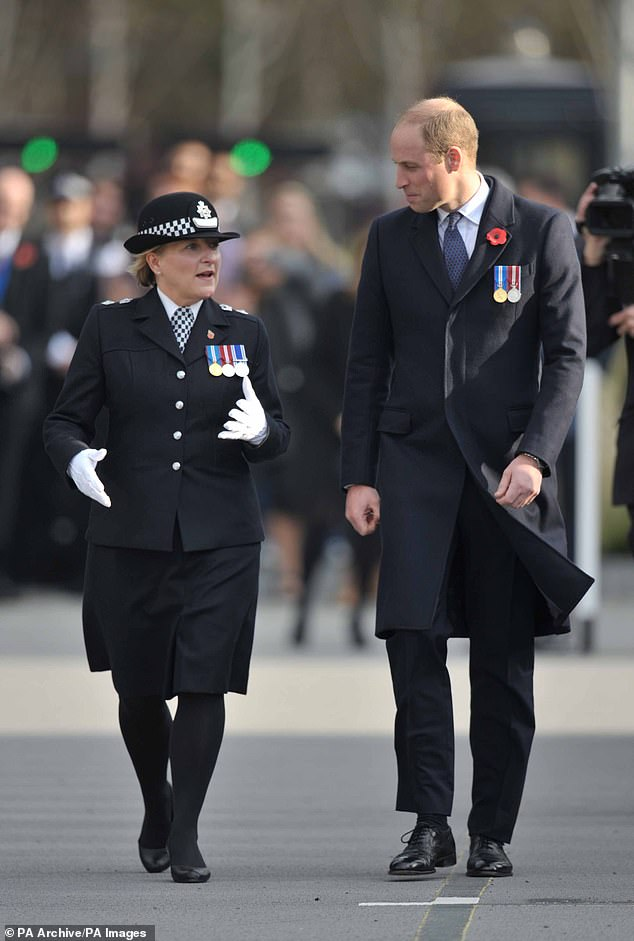 The final picture uploaded shows The Duke of Cambridge attending the Metropolitan Police Service passing out parade alongside chief superintendent Penny Banham at Peel House in Hendon on 3 November, 2017