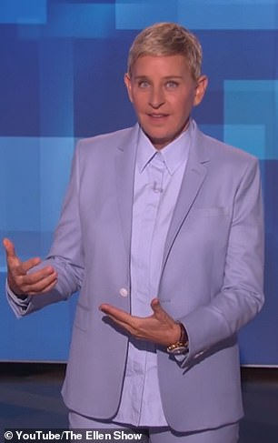 DeGeneres held Archie on a summer trip to the UK, telling her studio audience how she fed him