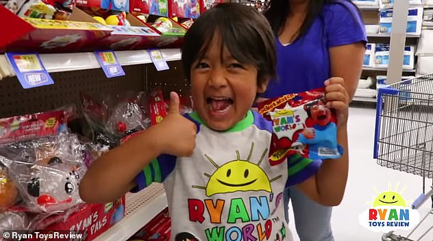 The first-grader (pictured), who's been making YouTube videos for three years, has also become a major influencer in the toy industry