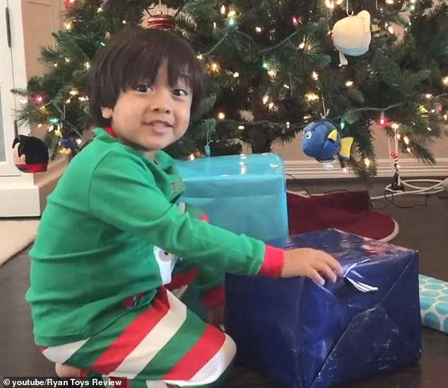 Millionaire! YouTube star Ryan of Ryan ToysReview placed first in Forbe's ranking of last year's 10 highest-paid YouTubers in the world