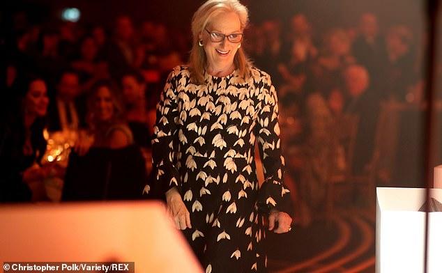 Meryl smiles: Meryl Streep smiles before accepting her TIFF Tribute Award