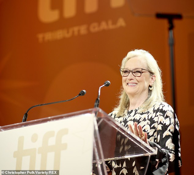 Award: Meryl Strep accepts the TIFF Tribute Actor Award