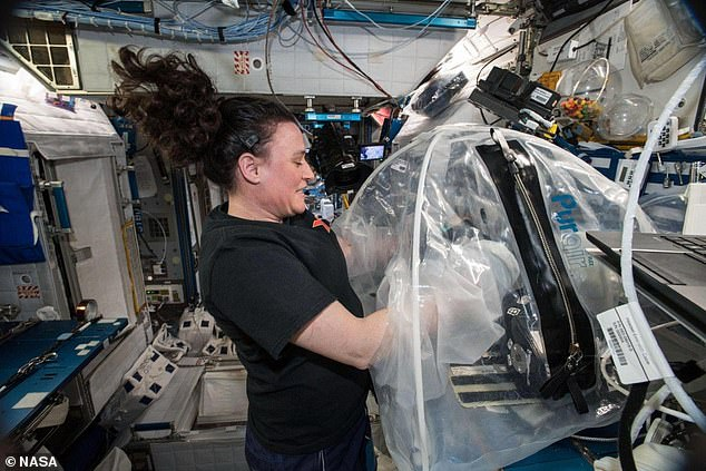 astronauts aboard the international space station -#main