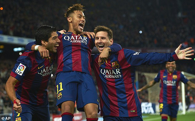 The trio formed a highly effective attacking unit during their time together at Barcelona