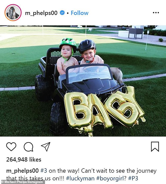 Siblings: He enlisted the help of his little boys to announce Nicole was pregnant with her third child earlier this year