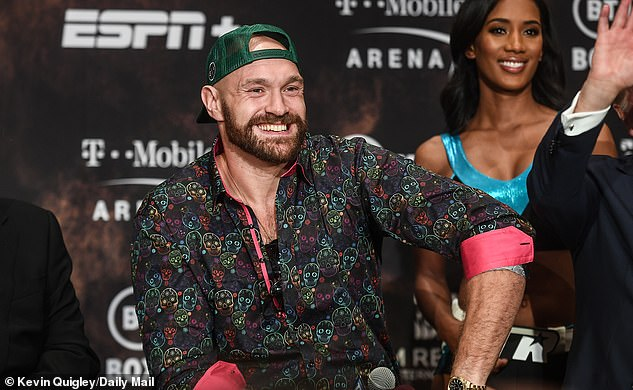 Tyson Fury was in a playful mood as he answered questions ahead of his fight on Saturday