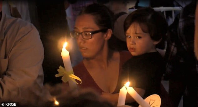 Hours after news of her death was made public, hundreds of locals gathered in Espanola's plaza for a prayer vigil in Renezmae's honor