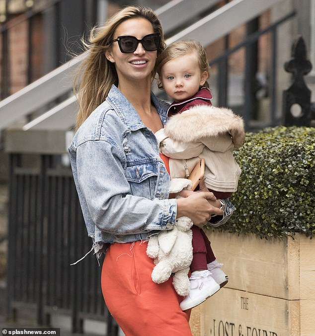 Mummy and me:Ferne McCann enjoyed some quality time with her adorable little girl Sunday, 21 months, as they stepped out in Lees ahead of a photoshoot on Thursday