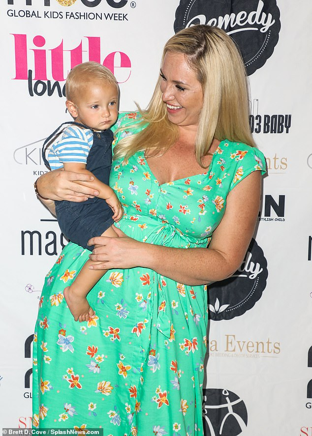 Cute:Also at the event was Josie Gibson, who brought her adorable little one Reggie-James along for the event