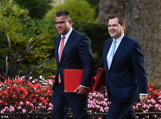 International Development Secretary Alok Sharma and Housing Secretary Robert Jenrick were also at No10 for the update from Mr Johnson