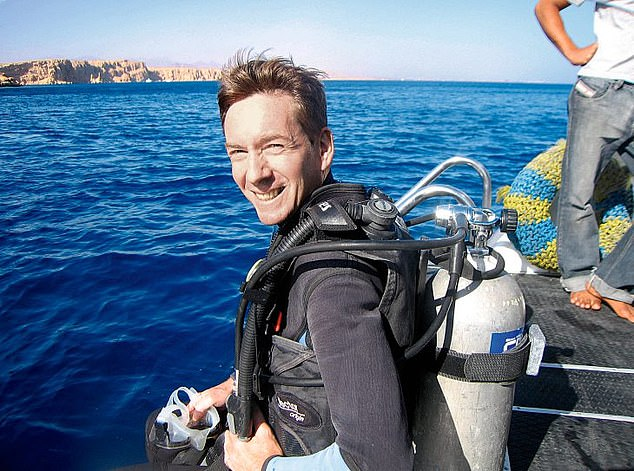 Frank (picturedthe wreck of the SS Thistlegorm, a Merchant Navy ship sunk by German bombers in the Gulf of Suez in 1941 in 2006) re-learned how to scuba dive without his legs