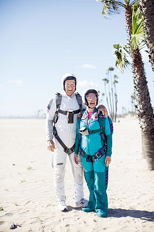 Pat and Alicia Moorehead, 87 and 72, live in Los Angeles and hold multiple skydiving world records