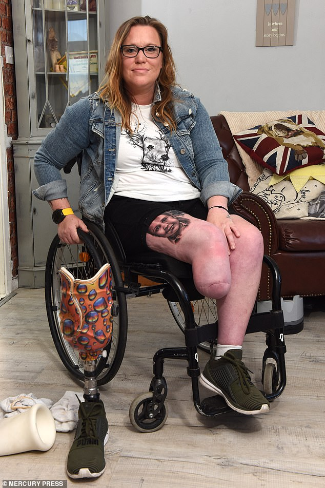 An infection that wouldn't budge spread up Ms Satchwell's leg, causing her flesh to rot
