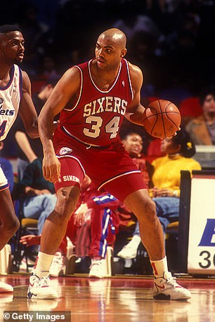 A picture of Barkley during his playing days with the Philadelphia 76ers