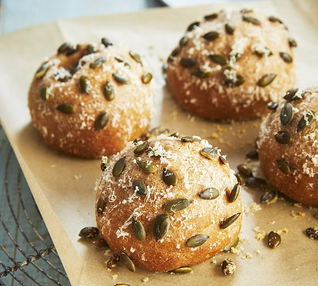 Cheese and Marmite seeded rolls