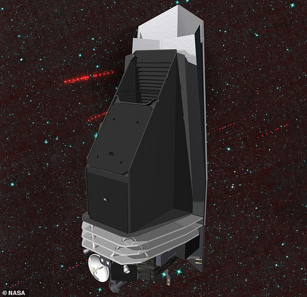 Dr Amy Mainzer said that trying to spot asteroids via their 'faint' light was like trying to spot a 'lump of coal in the night's sky', but that a proposed Near-Earth Object Camera (NEOCam) mission (pictured) that detects heat waves would make it a lot more accurate