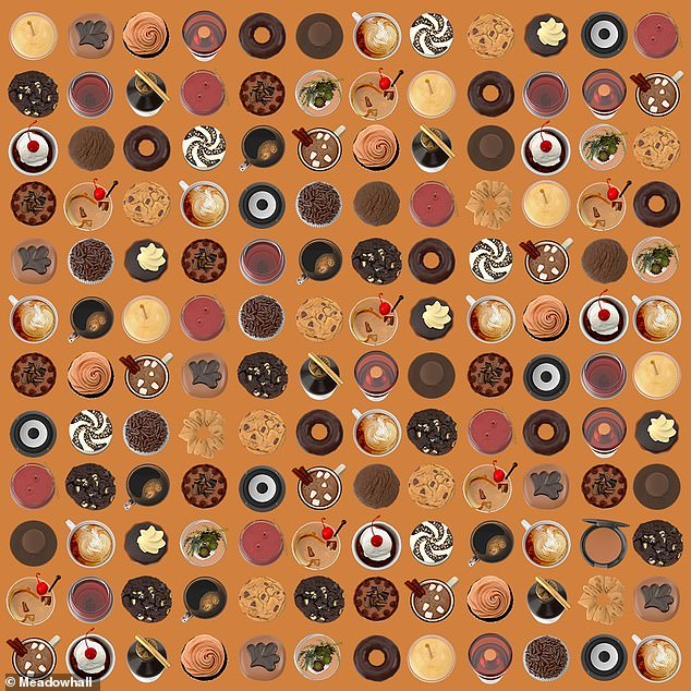The latest brainteaser challenges netizens to find the eyeshadow amongst an array of tasty treats - but can you find the hidden item?