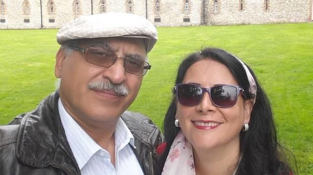 Sherry Izadi, pictured right, can be seen with her husbandAnoosheh Ashoori, pictured left. The 65-year-old retired civil engineer was sentenced to 10 years in an Iranian prison in July. His wife said that he has never had any political affiliation but the Islamic Republic have accused him of spying for Israel's Mossad intelligence agency
