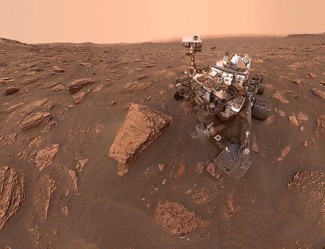 L'équipe a déclaré que les extrémophiles devraient être les premiers microbes libérés sur la planète rouge, cet organisme étant capable de tolérer et même de dépendre et se développant dans des conditions environnementales difficiles. Sur la photo, le rover Curiosity sur Mars