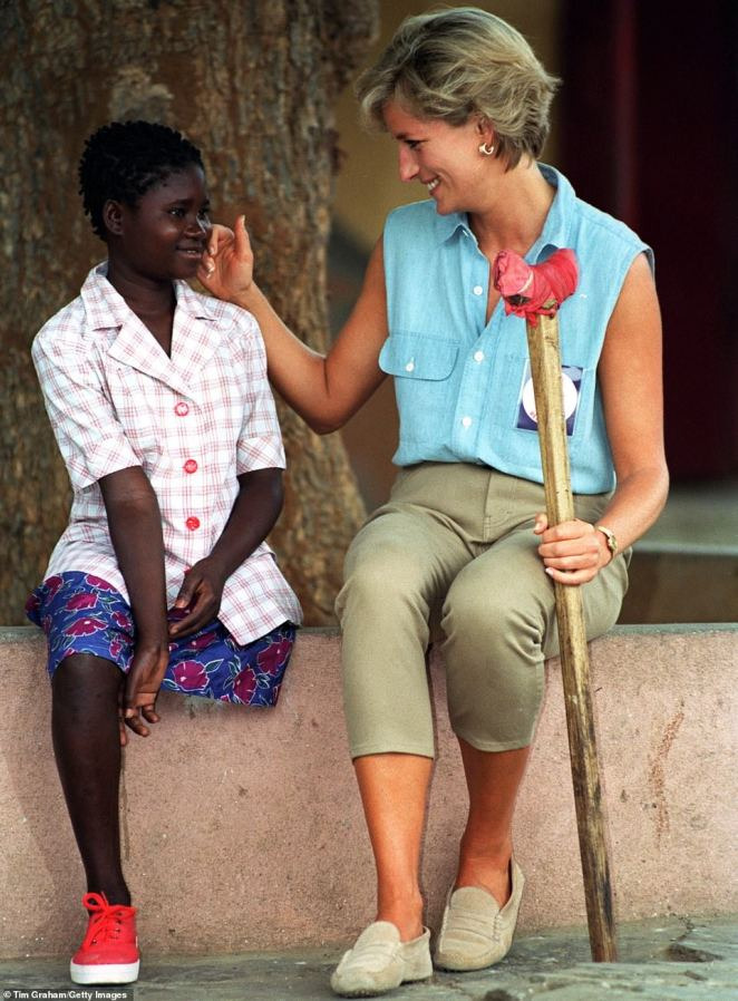 Ms Thijika (pictured with Diana) described the experience of meeting Princess Diana in 1997 as making her feel 'complete'