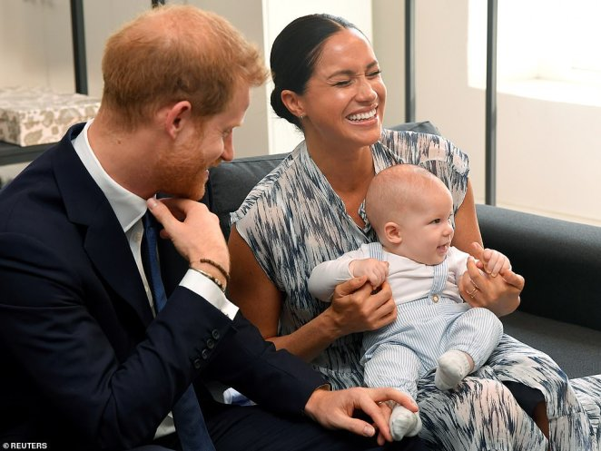 Archie was last seen on Wednesday during tea with Archbishop Desmond Tutu in Cape Town. During the meeting Meghan said her son would have to get used the cameras in his life