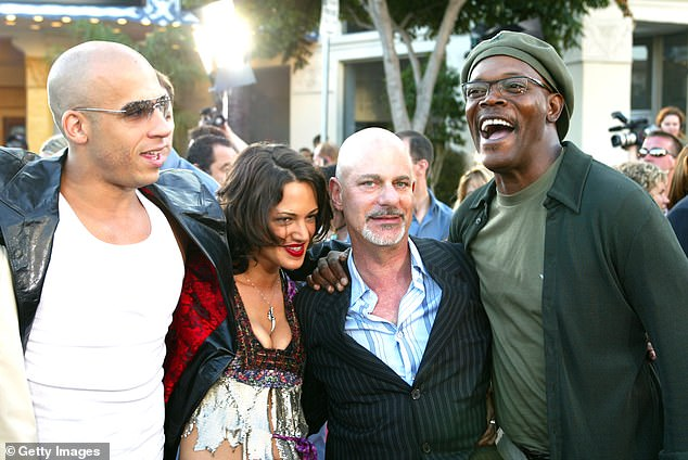 Cohen is famous for having directed hit movies Fast and the Furious and xXx. He is pictured here (second from right) with xXx stars (L to R) Vin Diesel, Asia Argento and Samuel L. Jackson