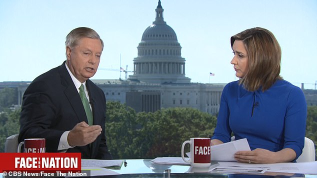 Graham also said he has 'zero problems' with the president's phone call with Ukrainian President Volodymyr Zelensky, which some lawmakers say are concerning since in it he urges the foreign leader to probe Joe Biden and his son Hunter Biden