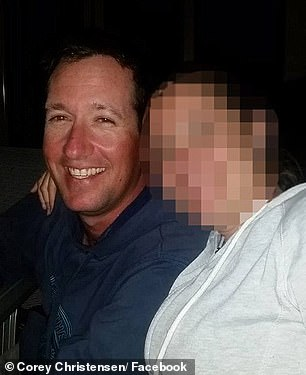Corey Christensen, 37, (pictured) was killed during the encounter