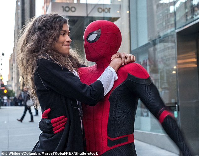 MJ and Spidey:Zendaya has enjoyed somewhat of a banner year, here seen inthis summer's Spider-Man: Far From Home