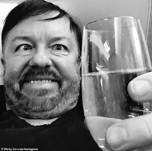 Banter: Posting on Instagram later that day, Gervais joked that he had just undergone a medical examination on behalf of the new series
