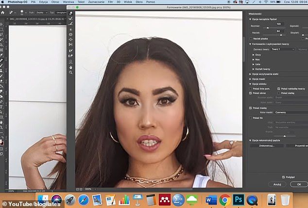 Cassey, whose photo was edited on Photoshop, said herproject showed her that people online are all following a type of beauty standard, whether or not we think we're subscribing to it