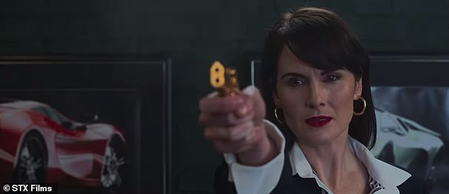 Gangster's paradise: Downton Abbey star Michelle Dockery also stars in the new film