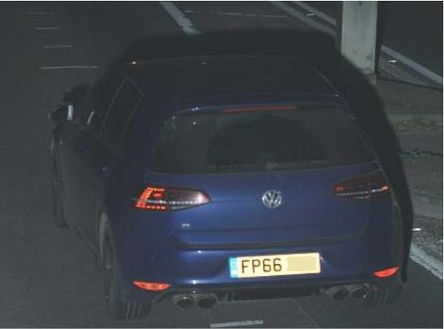 A photograph of a navy blue Volkswagen Golf R has been released by Thames Valley Police