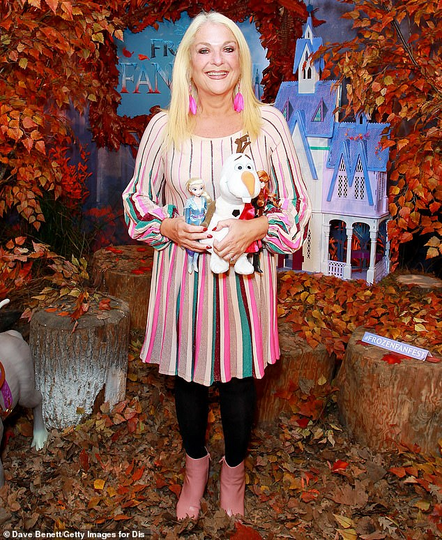 Wow!Vanessa Feltz continued to showcase her sensational slimline physique as she attended the launch of the new Frozen 2 merchandise, ahead of the film's release next month on Wednesday evening in London