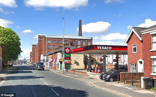 The incident unfolded at this petrol station in Preston in the early hours of September 28